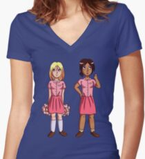 """Ymir and Historia """"But I'm a Cheerleader"""" Women's Fitted V-Neck T-Shirt"""