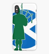 Scottish Piper Flag iPhone Case/Skin