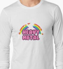 heavy metal parody funny unicorn rainbow T-Shirt
