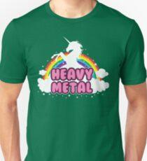 heavy metal parody funny unicorn rainbow Unisex T-Shirt