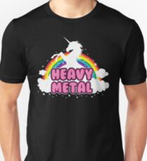 heavy metal parody funny unicorn rainbow T-Shirt