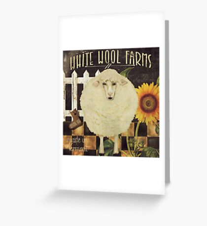 White Wool Vermont Farms Greeting Card
