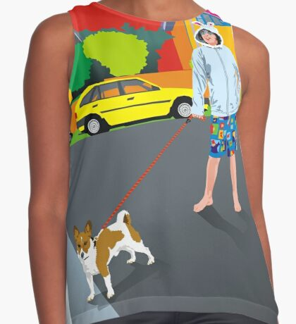 Bob and the Mystery Rabbit Girl Contrast Tank