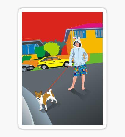 Bob and the Mystery Rabbit Girl Sticker
