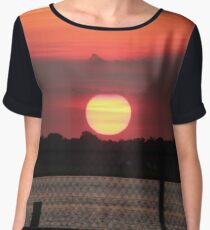Island Park Big Sun Ball Sunset Chiffon Top