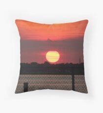 Island Park Big Sun Ball Sunset Throw Pillow