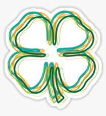 shamrock blur Sticker