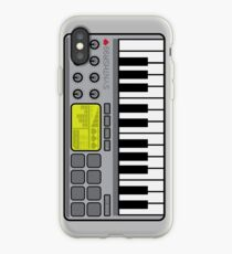 Vinilo o funda para iPhone Controlador Synth Midi - Gris retro