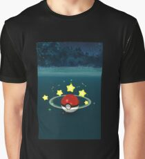 Pokemon Go Poke Ball Stars - Night time Capture Graphic T-Shirt