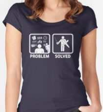 RC Radio Controlled Planes Problem Solved Women's Fitted Scoop T-Shirt
