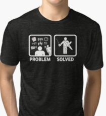 RC Radio Controlled Planes Problem Solved Tri-blend T-Shirt