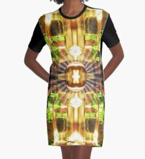 Stained Glass: Mirror of Vanity Absorption Graphic T-Shirt Dress