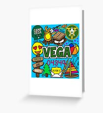 Vega Greeting Card