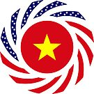 Vietnamese American Multinational Patriot Flag Series by Carbon-Fibre Media