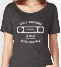 Toyota 40 Series Diesel Landcruiser Square Bezel Est. 1960 Women's Relaxed Fit T-Shirt