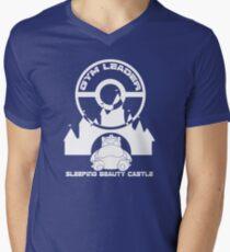 Poke-GO: Sleeping Beauty's Castle Gym Leader Mens V-Neck T-Shirt
