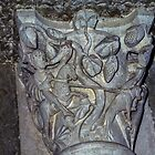 Roland and hunting Column capital Vezelay France 19840505 0059  by Fred Mitchell
