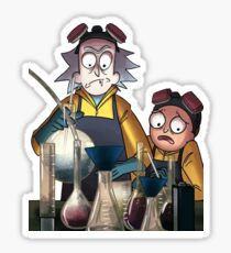 Breaking Bad Rick and Morty Sticker