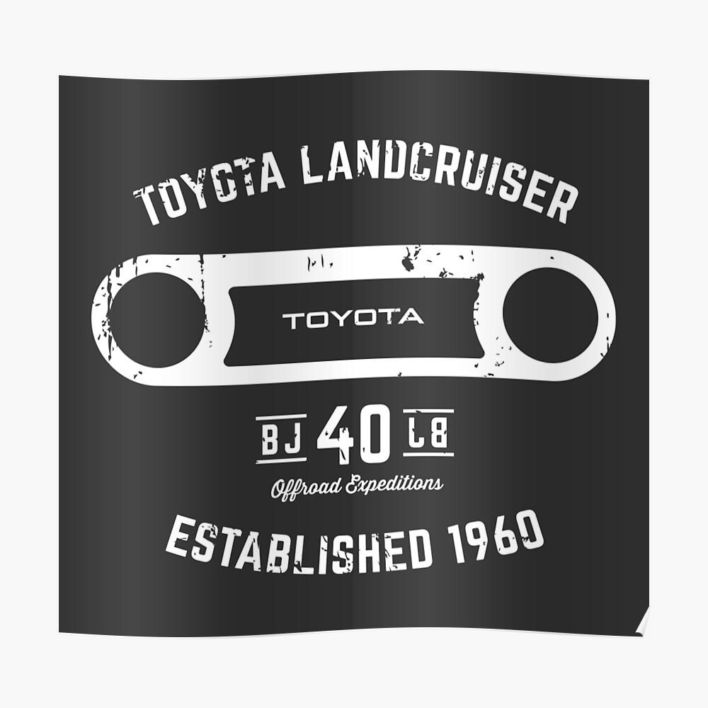 Toyota 40 Serie Landcruiser BJ40 Runde Blende Est. 1960 Poster