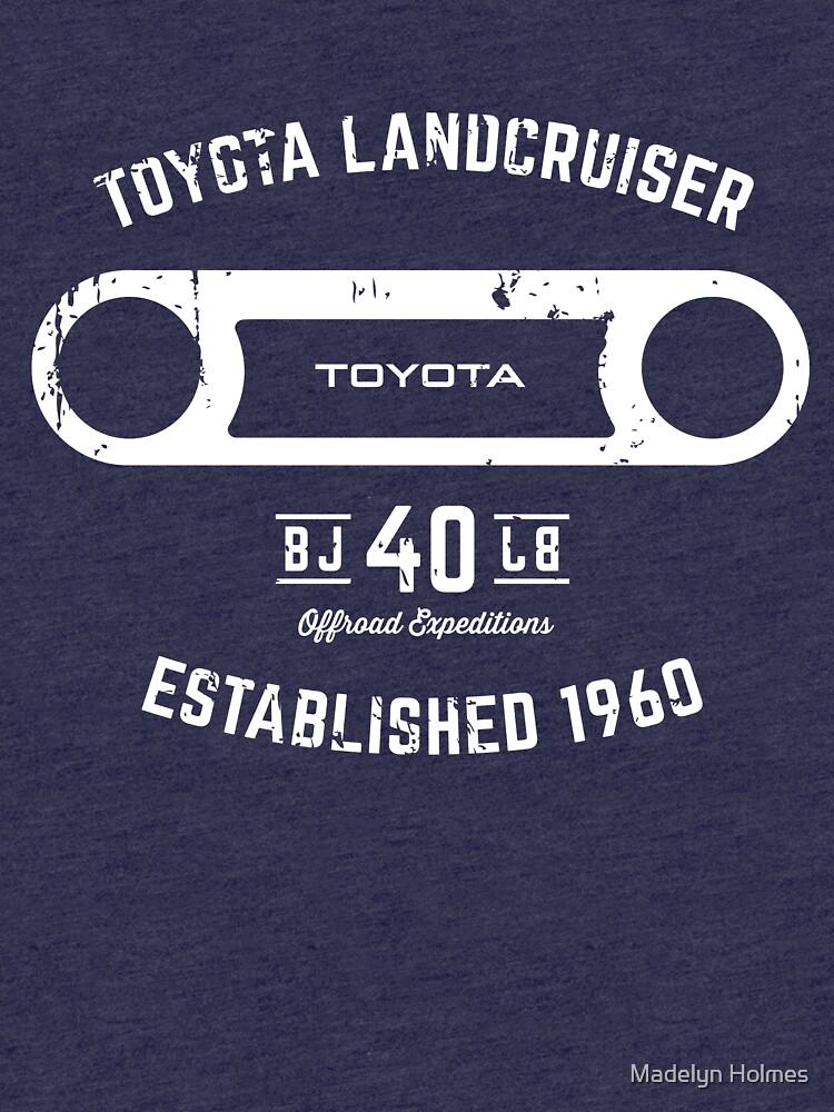 Toyota 40 Serie Landcruiser BJ40 Runde Blende Est. 1960 von mhphotographics