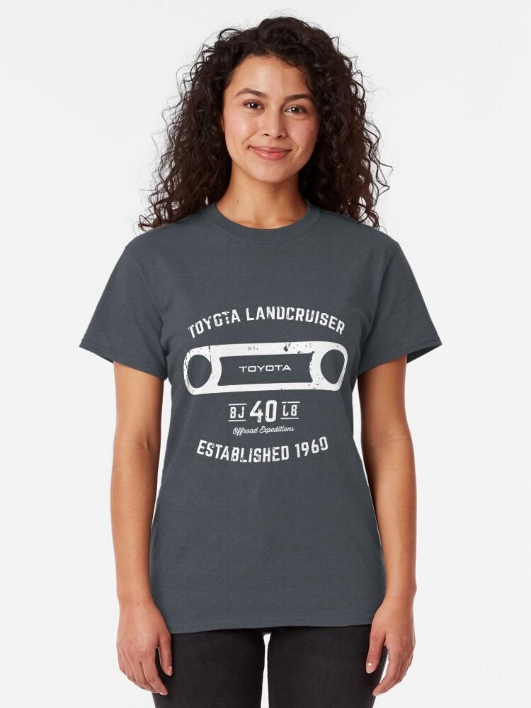 Alternative Ansicht von Toyota 40 Serie Landcruiser BJ40 Runde Blende Est. 1960 Classic T-Shirt