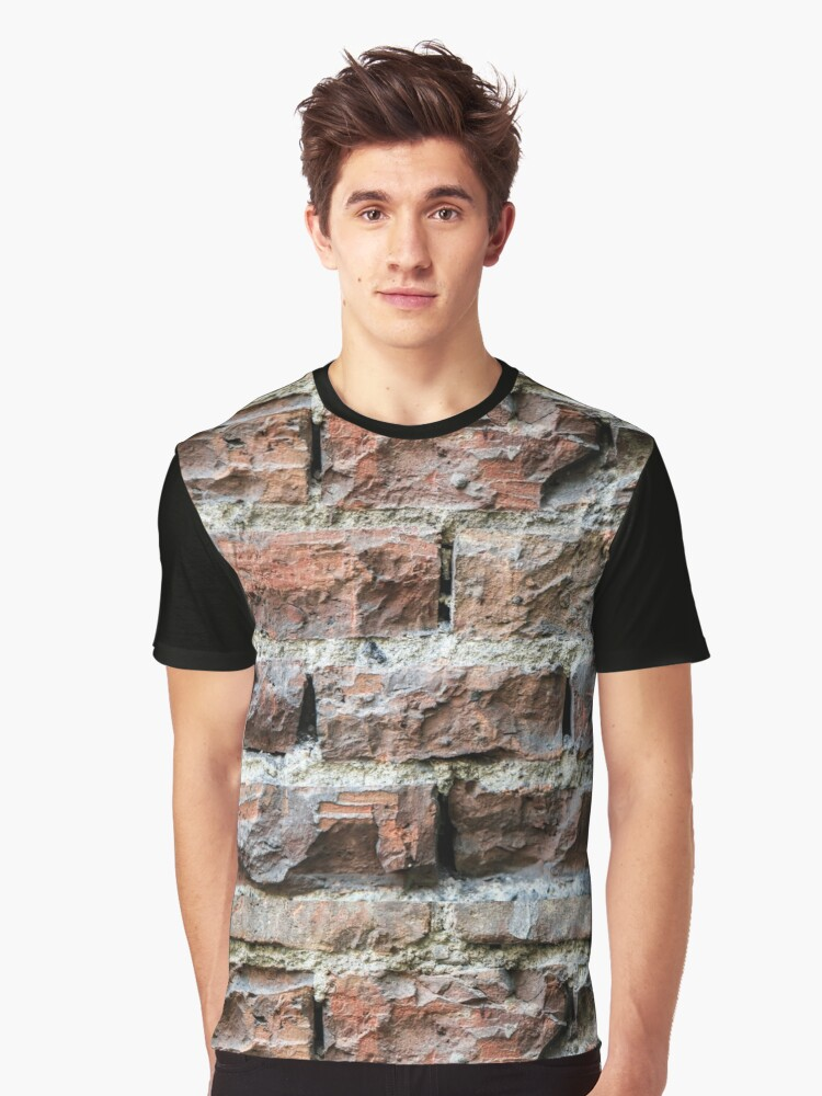 Old brick wall background  Graphic T-Shirt Front