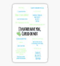 Destiel | Quotes Sticker