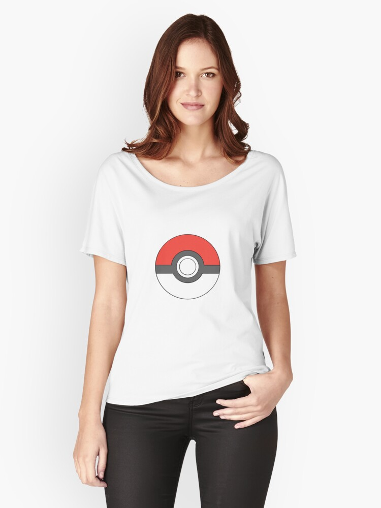 Classic Pokeball (large) Women's Relaxed Fit T-Shirt Front