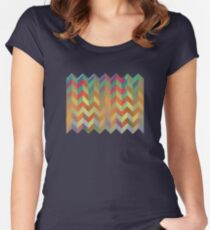Chevron On Stilts Women's Fitted Scoop T-Shirt