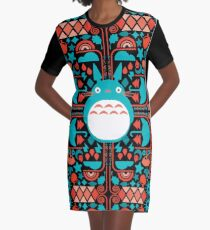 Team Ghibli Graphic T-Shirt Dress