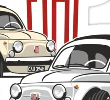 Fiat 500 personalized for Olivia Sticker