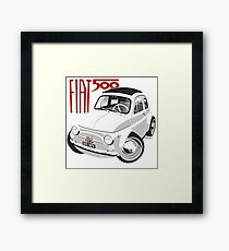Fiat 500 personalized for Olivia Framed Print