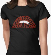 Science Fiction Double Feature Women's Fitted T-Shirt