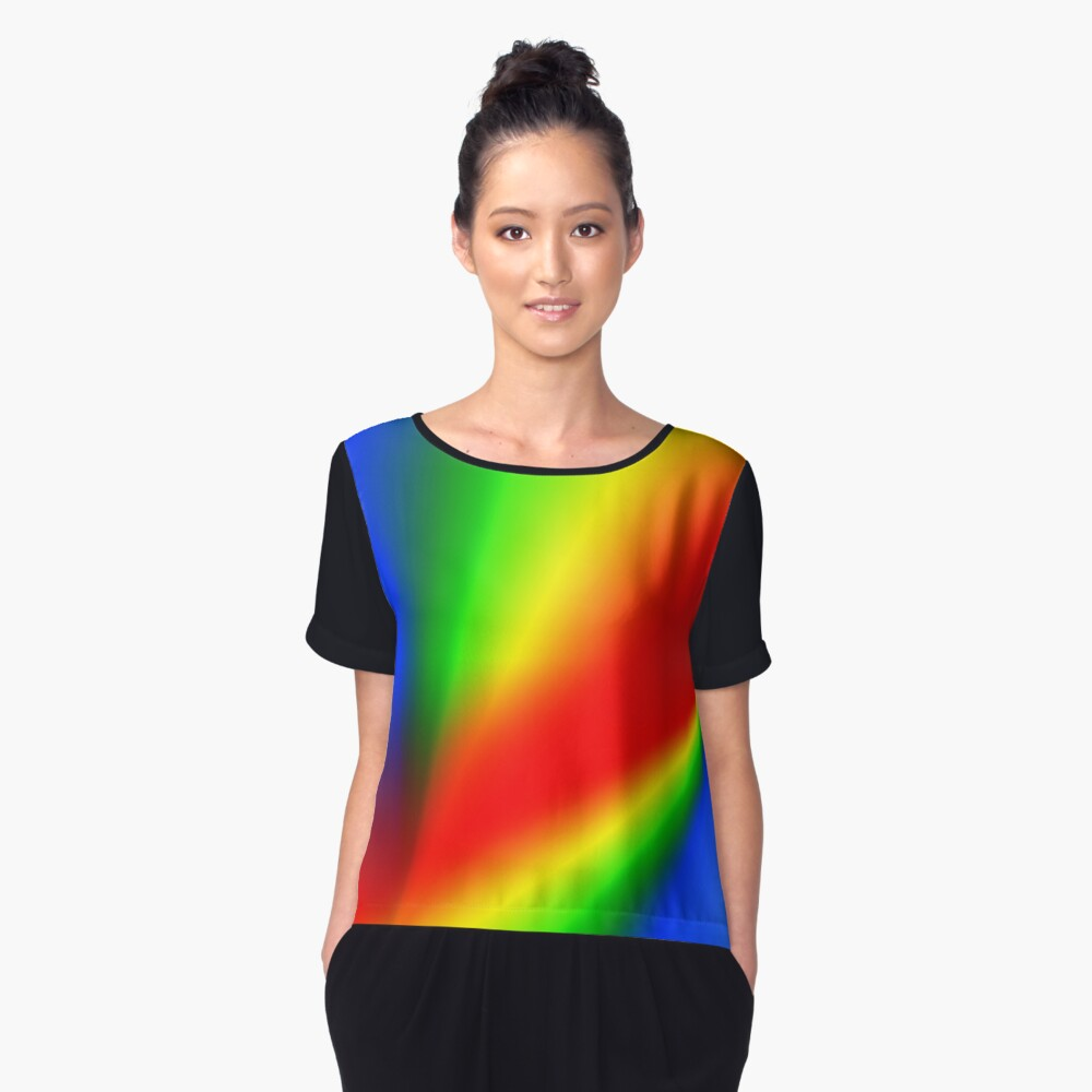 Double rainbow Women's Chiffon Top Front