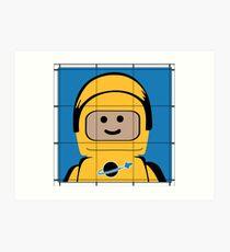 Lego Spaceman Art Print