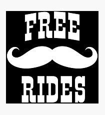 Mustache Rides Photographic Print