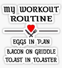 Breakfast Workout Routine Girls Muscle Top Sticker