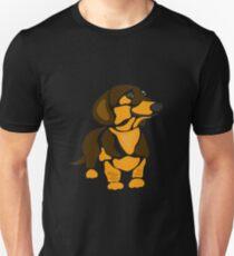 Cool Fun Dachshund Dog Art Unisex T-Shirt
