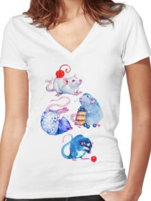 Sweet Rats Women's Fitted V-Neck T-Shirt