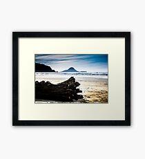 Drift wood on Ohope beach New Zealand Framed Print