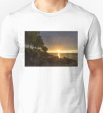 Summer Gold - Sparkling Sunrise on the Shore of Lake Ontario in Toronto T-Shirt