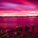 Pink Glow - Applecross Jetty by Daniel Carr