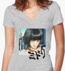 Midori - Shinsekai Women's Fitted V-Neck T-Shirt
