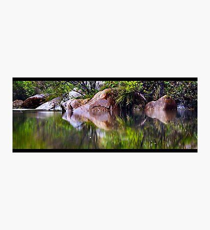 Blue Pool Reflections I Photographic Print