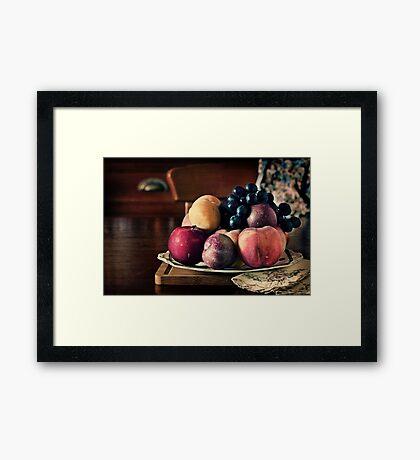 ~ still life with summer fruit ~ Framed Print