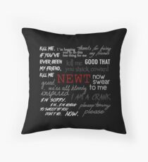 Memorial to Newt Throw Pillow