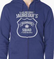 Sudadera con capucha y cremallera Escuadrón Grammar de Jauregui