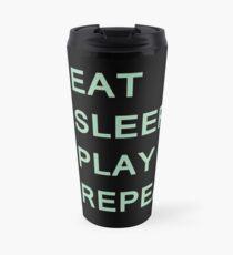 Guitar player routine (green) Travel Mug