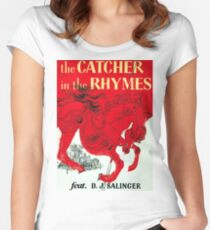 The Catcher in the Rhymes (feat. D.J. Salinger) Women's Fitted Scoop T-Shirt