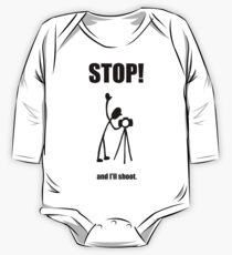 "Photographer ""STOP! - And I'll Shoot"" Cartoon One Piece - Long Sleeve"
